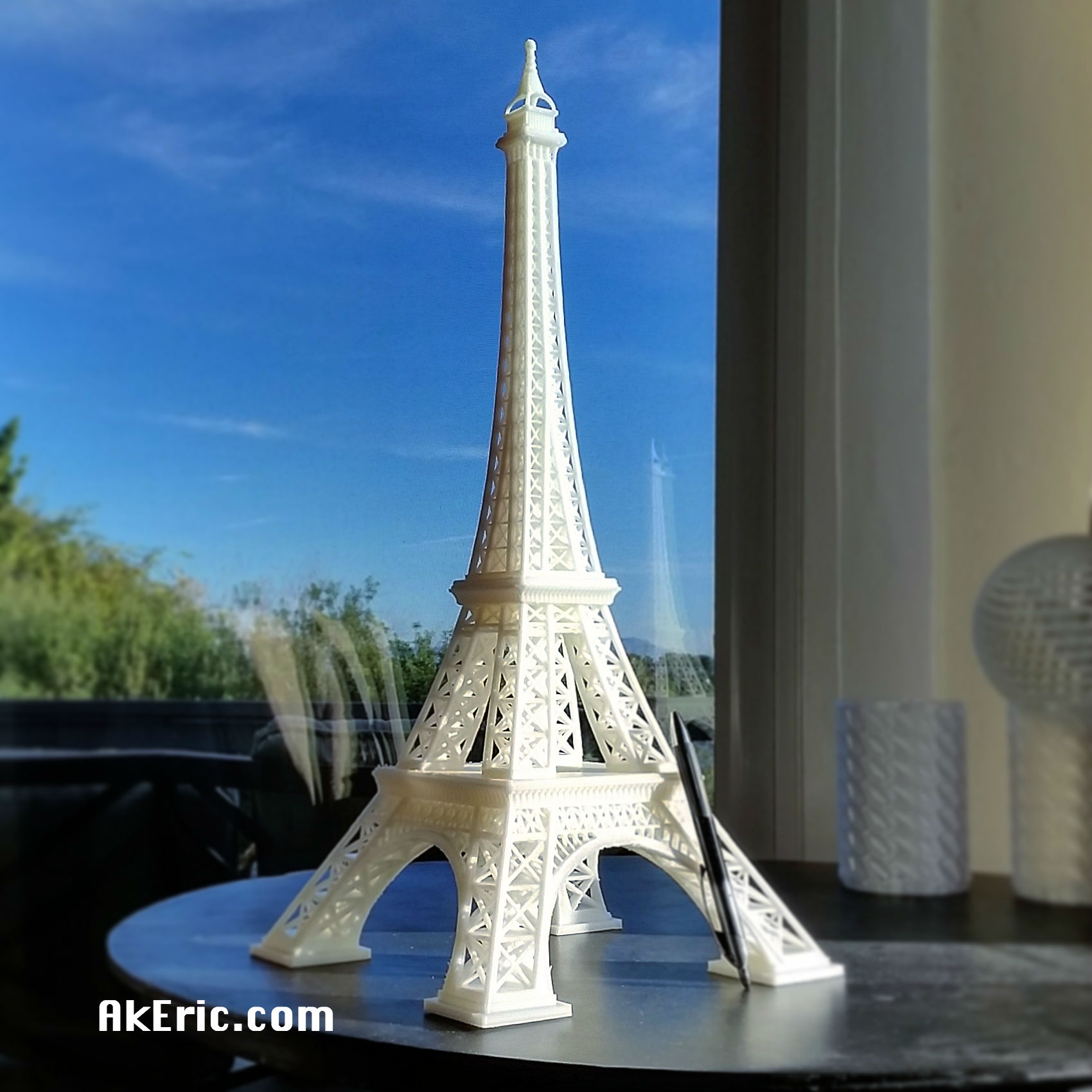 graphic about Printable Pictures of the Eiffel Tower named Clean 3D Print : Eiffel Tower AK Eric